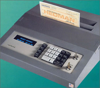 Stand alone Electronic Check writer Model HE1600